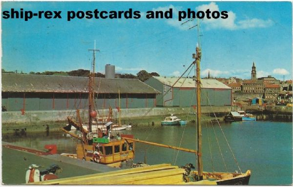 Tweedmouth harbour, postcard